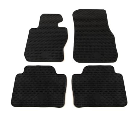 vidaXL Zestaw 4 gumowych dywaników samochodowych do BMW Serii 3 i 4[1/6]