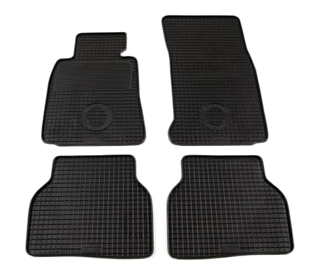vidaXL 4 Piece Tailored Car Mat Set Rubber BMW 5 Series (E39)