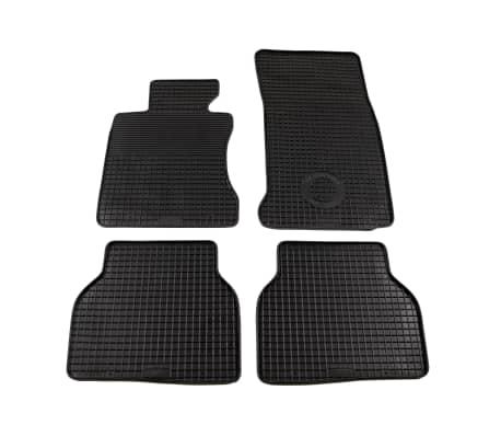 vidaXL Skreddersydd bilmattesett 4 deler gummi BMW 5-serien (E60)