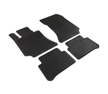 vidaXL Gummi-Fußmatten-Set 4-tlg. für Mercedes W212 E-Klasse[2/6]