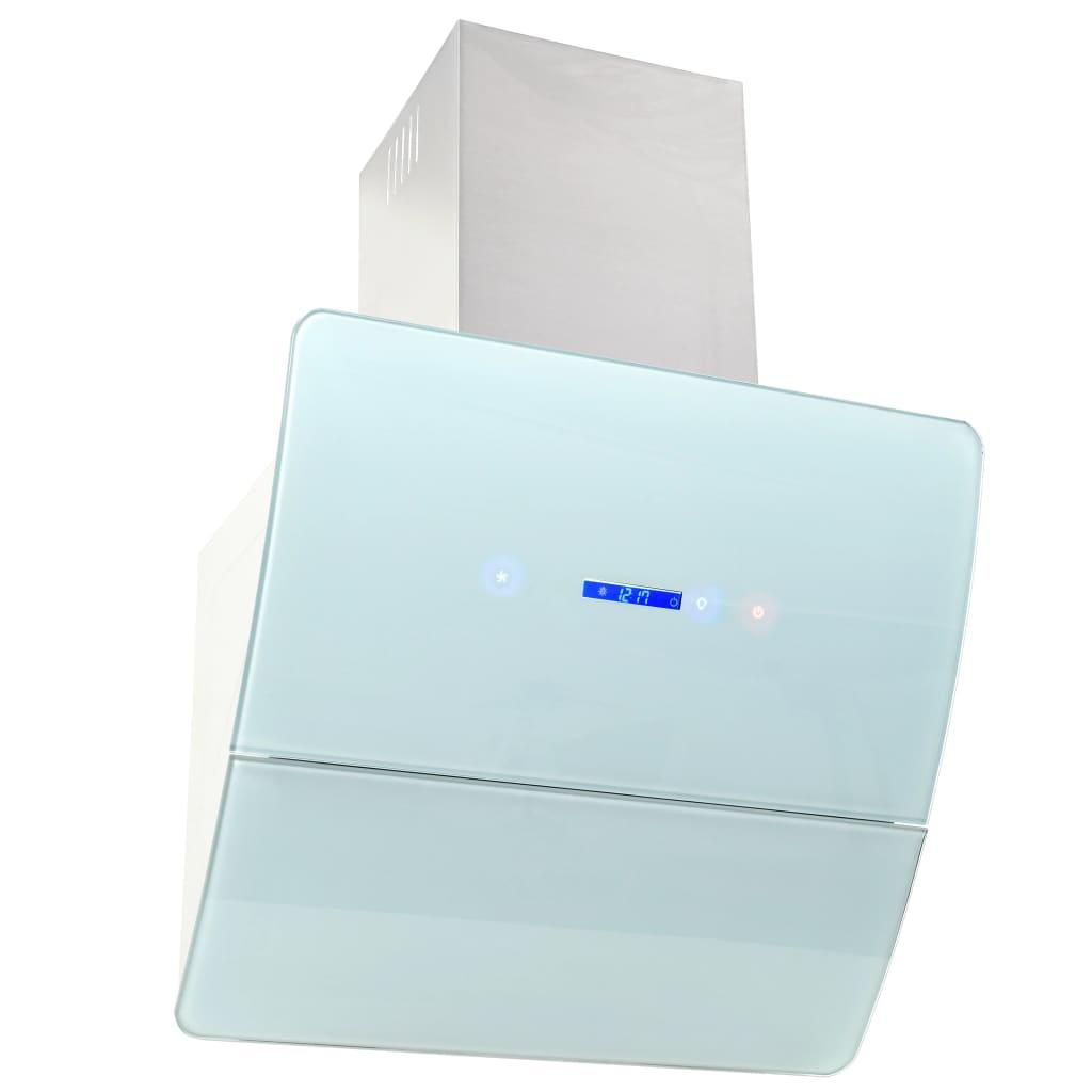 Afbeelding van vidaXL Wandafzuigkap 756 m³/u 60 cm roestvrij staal wit