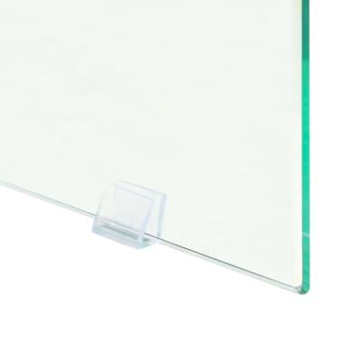 vidaXL Couchtisch MDF und Glas 110 x 55 x 40 cm Eichenoptik[6/7]