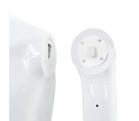"vidaXL Full Body Male Mannequin with Glass Base Glossy White 72.8""[8/9]"