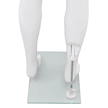 "vidaXL Full Body Male Mannequin with Glass Base Glossy White 72.8""[6/9]"