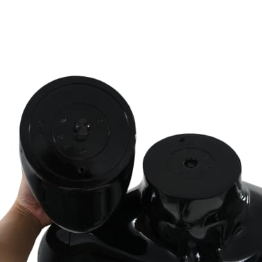 """vidaXL Full Body Male Mannequin with Glass Base Glossy Black 72.8""""[9/9]"""