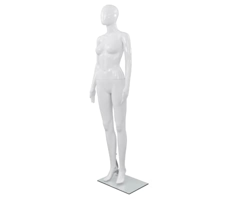 "vidaXL Full Body Female Mannequin with Glass Base Glossy White 68.9""[1/10]"