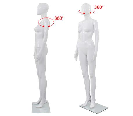 "vidaXL Full Body Female Mannequin with Glass Base Glossy White 68.9""[5/10]"