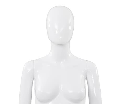"vidaXL Full Body Female Mannequin with Glass Base Glossy White 68.9""[7/10]"