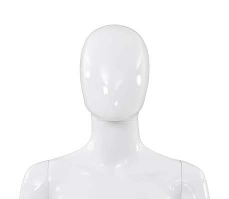 "vidaXL Full Body Female Mannequin with Glass Base Glossy White 68.9""[8/10]"