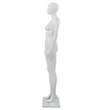"vidaXL Full Body Female Mannequin with Glass Base Glossy White 68.9""[3/10]"