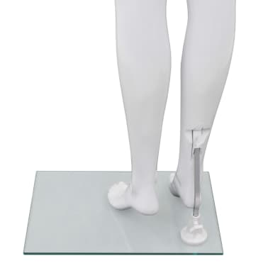 "vidaXL Full Body Female Mannequin with Glass Base Glossy White 68.9""[6/10]"