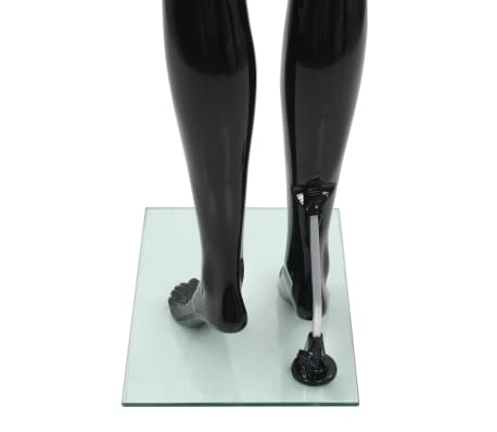 "vidaXL Full Body Female Mannequin with Glass Base Glossy Black 68.9""[6/10]"