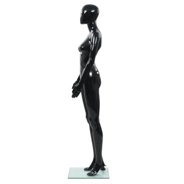 "vidaXL Full Body Female Mannequin with Glass Base Glossy Black 68.9""[3/10]"