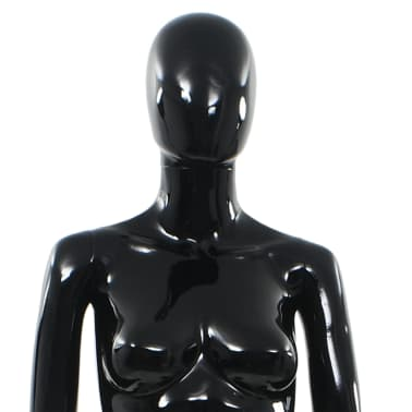 "vidaXL Full Body Female Mannequin with Glass Base Glossy Black 68.9""[7/10]"