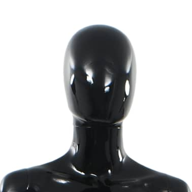 "vidaXL Full Body Female Mannequin with Glass Base Glossy Black 68.9""[8/10]"