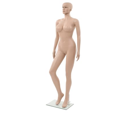 "vidaXL Sexy Female Mannequin with Glass Base Beige 70.9""[1/10]"