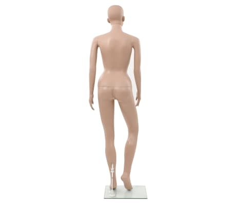 "vidaXL Sexy Female Mannequin with Glass Base Beige 70.9""[5/10]"