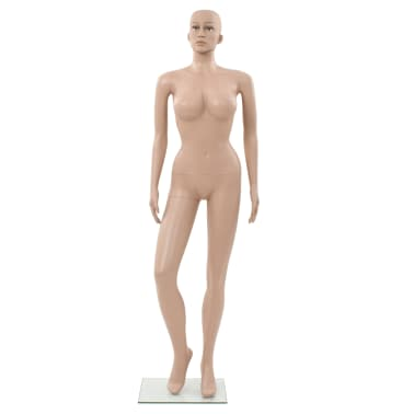 "vidaXL Sexy Female Mannequin with Glass Base Beige 70.9""[3/10]"