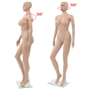 "vidaXL Sexy Female Mannequin with Glass Base Beige 70.9""[6/10]"