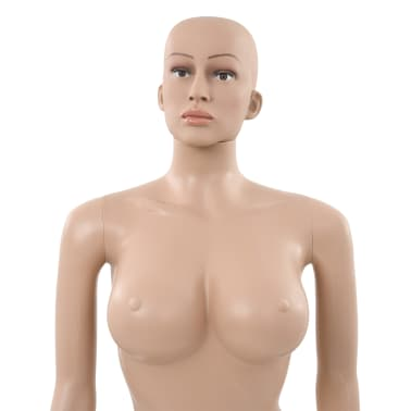 "vidaXL Sexy Female Mannequin with Glass Base Beige 70.9""[8/10]"