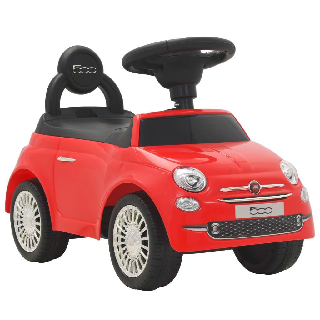 vidaXL Mașinuță fără pedale Fiat 500 Roșu poza 2021 vidaXL