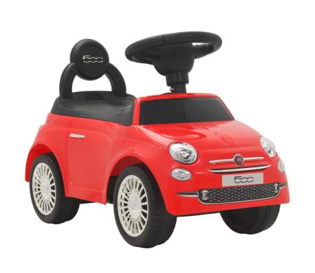 vidaXL Coche correpasillos Fiat 500 rojo[1/10]