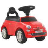 vidaXL Coche correpasillos Fiat 500 rojo
