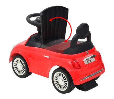 vidaXL Vaikiškas automobilis Fiat 500, raudonas[10/10]