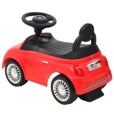 vidaXL Vaikiškas automobilis Fiat 500, raudonas[3/10]