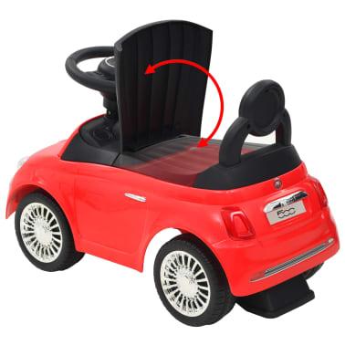 vidaXL Coche correpasillos Fiat 500 rojo[10/10]