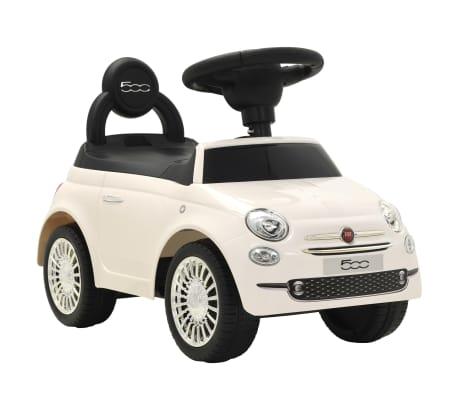 vidaXL Coche correpasillos Fiat 500 blanco[1/10]