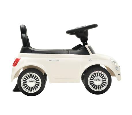 vidaXL Coche correpasillos Fiat 500 blanco[5/10]