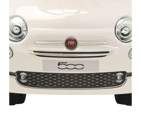 vidaXL Coche correpasillos Fiat 500 blanco[6/10]