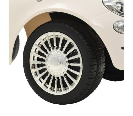 vidaXL Coche correpasillos Fiat 500 blanco[8/10]