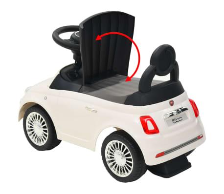 vidaXL Coche correpasillos Fiat 500 blanco[10/10]