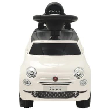 vidaXL Coche correpasillos Fiat 500 blanco[2/10]