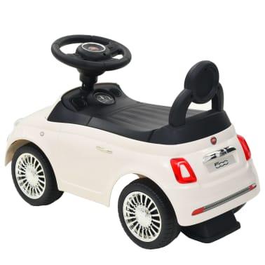 vidaXL Coche correpasillos Fiat 500 blanco[3/10]