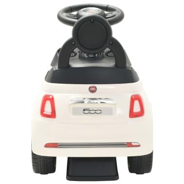 vidaXL Coche correpasillos Fiat 500 blanco[4/10]