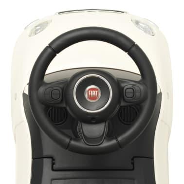 vidaXL Coche correpasillos Fiat 500 blanco[7/10]