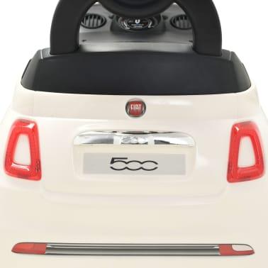 vidaXL Coche correpasillos Fiat 500 blanco[9/10]