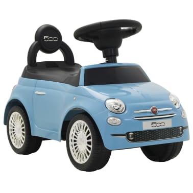 vidaXL Coche correpasillos Fiat 500 azul[1/10]