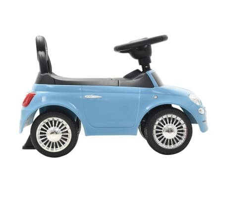 vidaXL Coche correpasillos Fiat 500 azul[5/10]