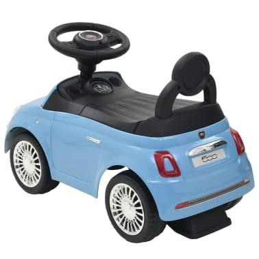 vidaXL Coche correpasillos Fiat 500 azul[3/10]