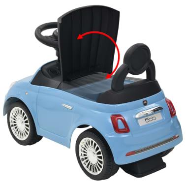 vidaXL Coche correpasillos Fiat 500 azul[10/10]