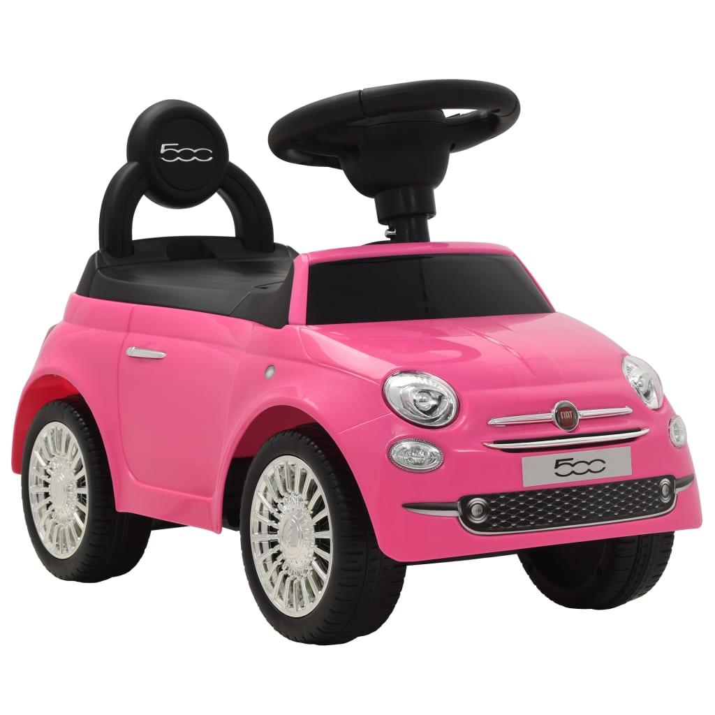 vidaXL Dětské autíčko Fiat 500 růžové
