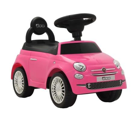 vidaXL Vaikiškas automobilis Fiat 500, rožinis[1/10]