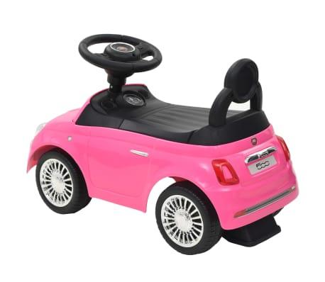 vidaXL Vaikiškas automobilis Fiat 500, rožinis[3/10]