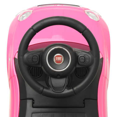 vidaXL Vaikiškas automobilis Fiat 500, rožinis[7/10]