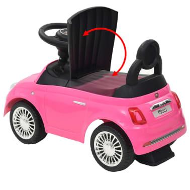 vidaXL Vaikiškas automobilis Fiat 500, rožinis[10/10]