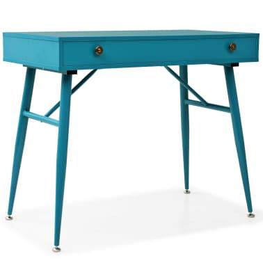 vidaXL Rašomasis stalas su stalčiumi, 90x50x76,5cm, vintaž. žalia sp.[1/9]
